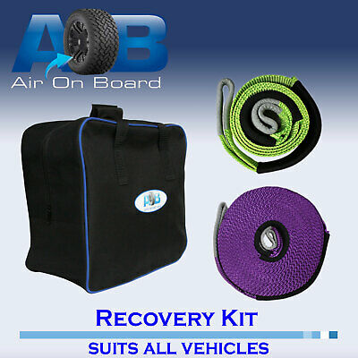 Winch Recovery Kit winch Extension strap + bridle strap + Bag 4WD OFFROAD