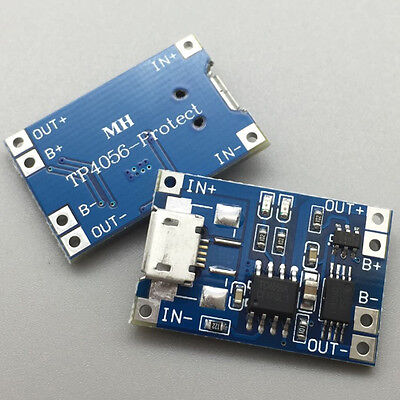 2Pcs 1A 5V TP4056 Lithium Battery Charging Module USB Board Electronic Component