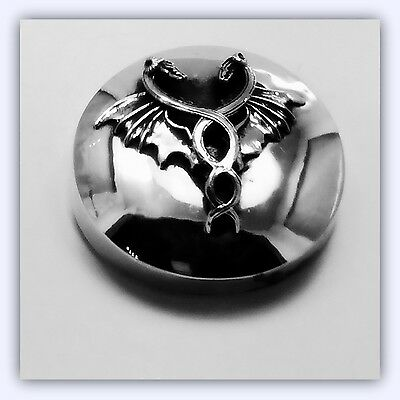 Sterling Silver Harley Gas Cap Cover