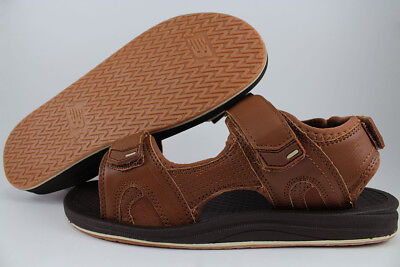 New Balance Purealign Recharge Sandals Brown Adjust Strap Arch Support Men Sizes