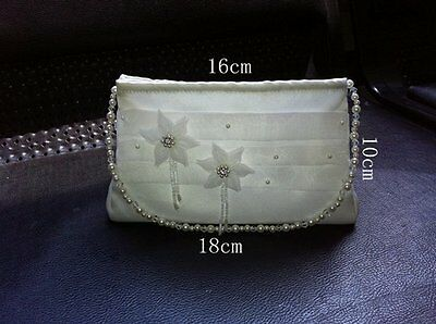 Organza Flower Girl First 1st Holy Communion Dolly Bag/Bridesmaid Bridal Handbag