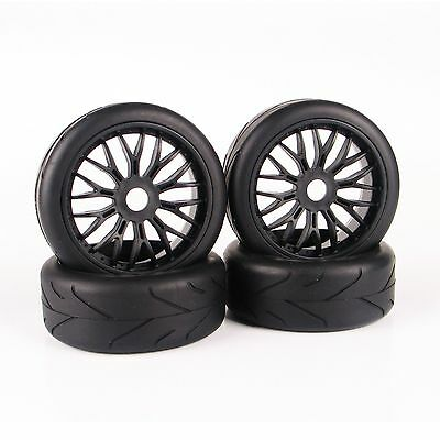 New Set For HPI HSP Traxxas 1:8 Scale RC Buggy Car On-Road Tires Tyre Wheel Rim
