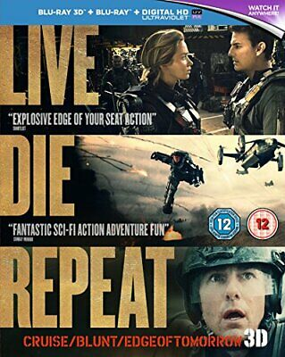 Live Die Repeat: Edge of Tomorrow [Blu-ray 3D + Blu-ray] [2014] [... - DVD  IGVG
