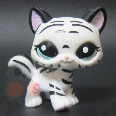 Littlest Pet Shop Collection LPS Figure Toys #1498 Sabertooth Tiger Kitty Cat
