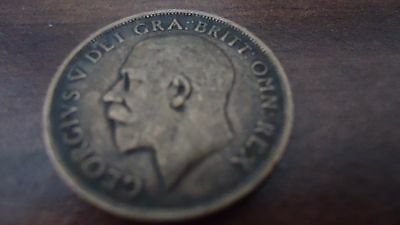 Great Britain 1920 - 1 Shilling Silver Coin - King George V