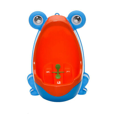 Frog Children Potty Toilet Training Kids Urinal Baby Boys Pee Trainer Blue