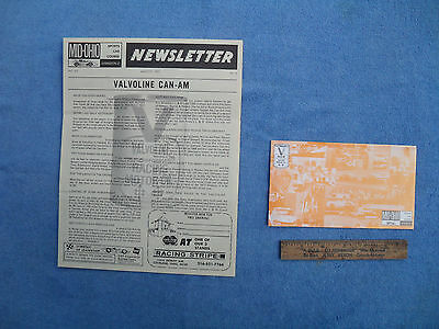 Vintage 1971 Mid Ohio Sports Car Course Newsletter + Pamphlet Valvoline Racing