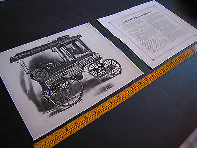 "Antique Cretors Popcorn Wagon 2 Print Set-Improved No. 1 Wagon -Model ""B""- 1916"
