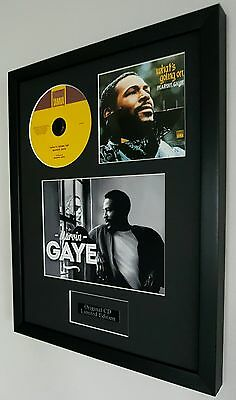 Marvin Gaye 'What's Going On' Framed Original CD- Plaque-Certificate-