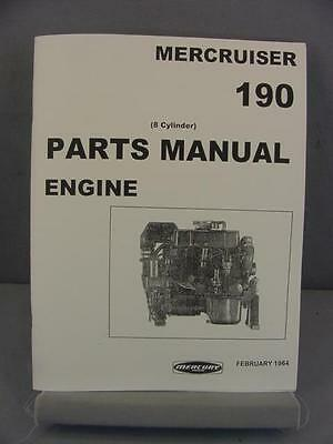 Mercury 190 Mercruiser Engine Parts Manual 190 Hp 1964 8 Cyl