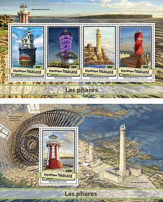 Lighthouses Phares Architecture Togo MNH stamps set