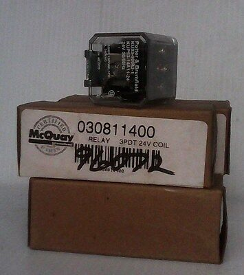 Commercial & Industrial Mcquay Potter & Brumfield 3 PDT, 24V Coil Relay