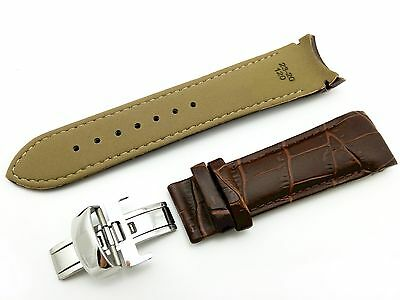 Brown Genuine Leather Strap Band for Tissot Watch Couturier 23mm With Clasp