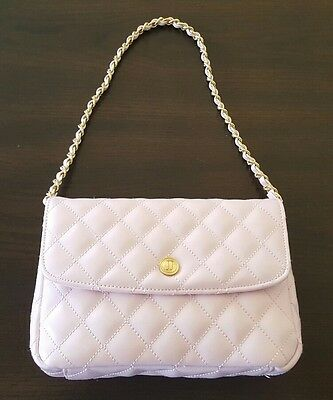 NWT Janie And Jack BEAUTIFUL Pink ☆ Matelasse Quilted Chain Purse gold Blush ♡