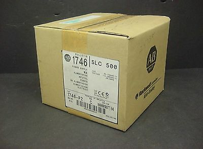 New Allen Bradley 1746-P2 Ser C SLC 500 Rack Chassis AC Power Supply PLC 2012