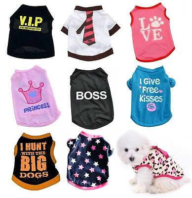 Puppy & Small Dog Cat Pet T Shirts & Vests Costume Outfit Clothes Clothing Gifts