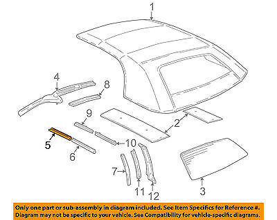 GM OEM Convertible/soft Top-Weatherstrip Seal Right 12362938