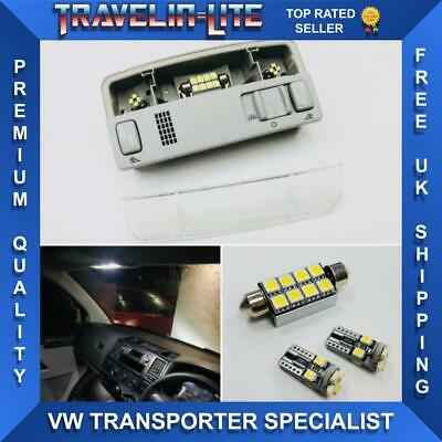 For VW T5 T5.1 T6 Interior Map Reading Light Unit & Led Upgrade Bulbs New