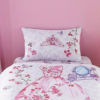 Catherine Lansfield Kids Glamour Princess Fitted Sheet, Multi, Single