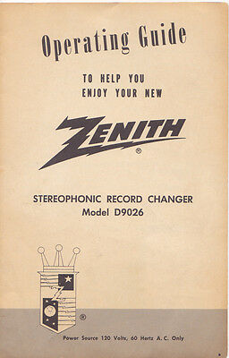 Zenith Manual Operating Guide For Television A27a23w A25a23w. Zenith Model D9026 Stereophonic Record Changer Operating Guidemanual. Wiring. Zenith 5g03 Wiring Diagram At Scoala.co