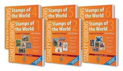 Stanley Gibbons 2016 Stamps Of The World Set Of 6 Stamp Catalogues