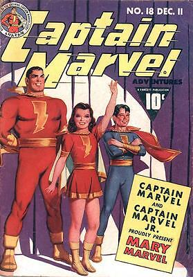 CAPTAIN MARVEL ADVENTURES #18 (1942) PHOTOCOPY MARY MARVEL FAMILY 1st APPEARANCE