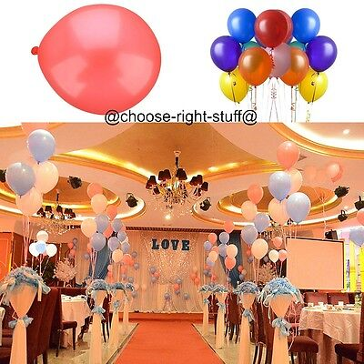 "100 Pearlised Helium Quality Latex Balloons 10"" Wedding Birthday Atmosphere"