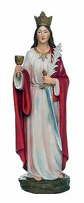 Saint Barbara Great Martyr Barbara Catholic Religous Figurine Sculpture 12 Inch