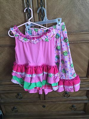 Custom Made Girls Outfit Capri Pants And Top Frog Prince Pink 6/7