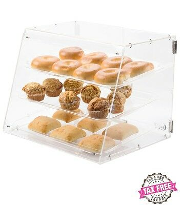 3 Tray Bakery Display Case Rear Door Donut Pastry Hotel Store Coffee Shop