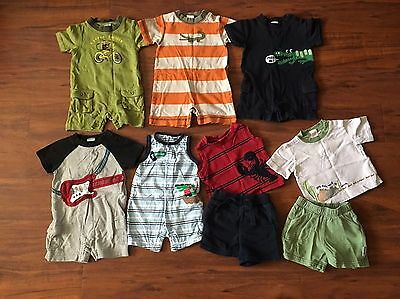 Boys 3-6 Months Gymboree Lot Of 7 Outfits Spring Summer Short Sleeves Rompers