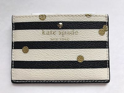 KATE SPADE Hawthorn Lane Confetti Dots Credit Card Case Holder NEW