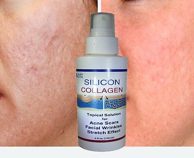 New SILICON COLLAGEN Topical Spray for Acne Scars Age Marks Skin Renovation 4 oz