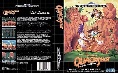 Quack Shot Sega Mega Drive PAL Replacement Box Art Case Insert Cover Reproductio