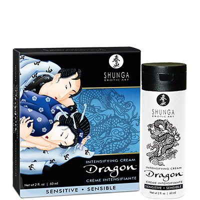 Shunga Dragon Sensitive crema estimulante sensible para parejas