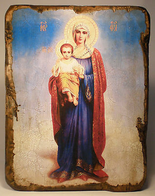 Handmade copy ancient ORTHODOX CHURCH ICON Virgin Our Lady of Blessed Sky 32S