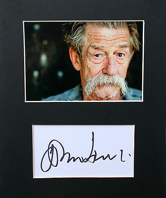 "JOHN HURT signed Index Card 6x4"" Mount Display 10x8"" - Genuine Autograph"