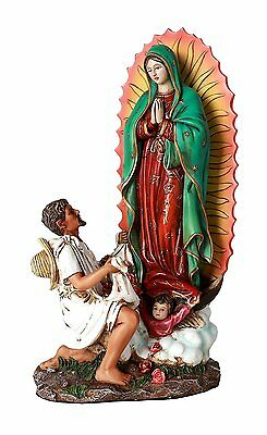 "10"" Statue Our Lady Of Guadalupe San St Juan Diego Saint Estatua Virgen Miracle"