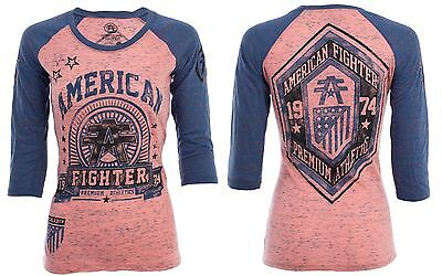 AMERICAN FIGHTER Women T-Shirt CALIFORNIA Athletic Biker Gym MMA UFC $40