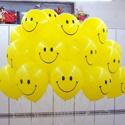 """Quality Yellow Smiley Face 11"""" Party Celebration Balloons - Helium or Air Fill"""