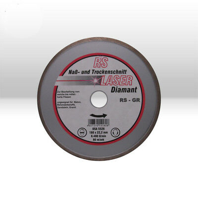 Carreaux Disque de Coupe Diamant Rs Laser 180 X 22,23 MM