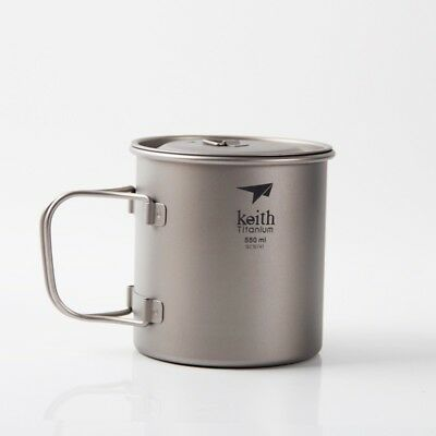 Keith Ti3206 Keith 3206 Titanium Outdoor cup Camping cups Water glass 550ML