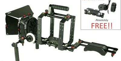 Filmcity Shoulder Stabilizer Camera Rig Cage with Matte box and follow foucus.