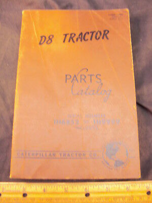 1951 CAT Caterpillar D8 Tractor Parts Manual Book ORIG