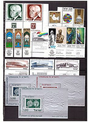 s15165) ISRAEL MNH** 1974 complete year set 16v + 3 S/S (NO Definitive stamps)