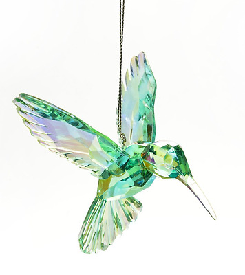NEW FREE SHIPPING ! Beautiful Humming Bird Ornament- Blue/Green