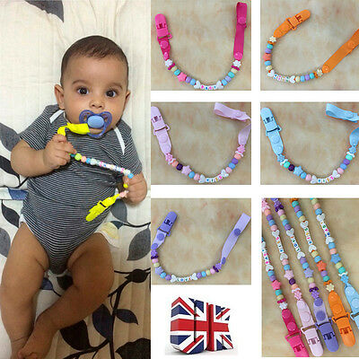 Cute Cartoon Baby Boys Girls Themed Dummy Soother Clip Pacifier Chain New Gift