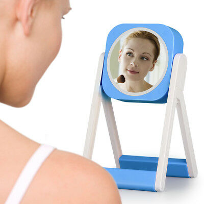 LED Lighted Beauty Cosmetic Mirror 7x Magnified Makeup 360° Rotation Wall Mirror