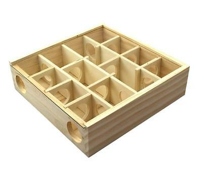 Wood Pet Supplies Maze Labyrinth Gerbil Exercise Play Fun Toy for Hamster Mouse