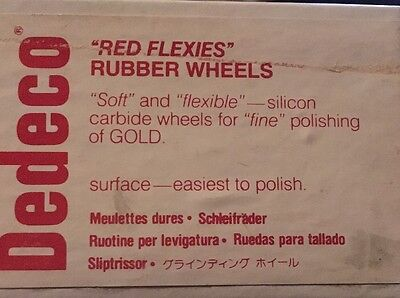 Dedeco Red Flexies Rubber Wheel Box Of 100 5/8 X 1/16 Inches